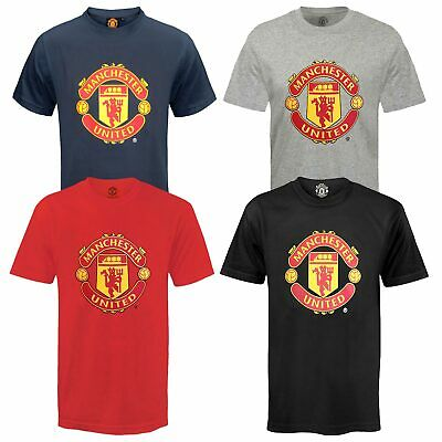 Manchester United Football Club Official Soccer Gift Mens Crest T-Shirt