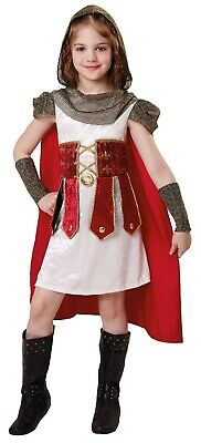 Girls Roman Warrior Princess Historical Carnival Fancy Dress Costume Outfit 4-12