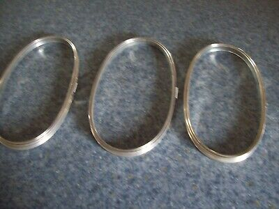 "3 oval embroidery hoops size 9"" metal vintage GUC tension"