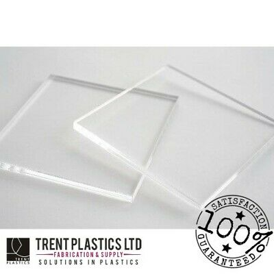 Clear Acrylic ACRYCAST Perspex Sheet Cut To Size Panels Plastic Material