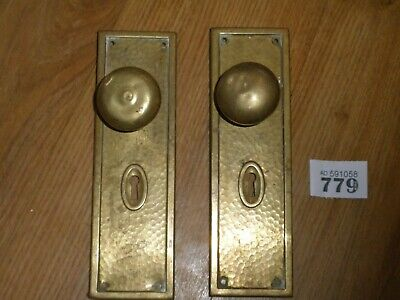 Antique Door Knobs Finger Plate Pair