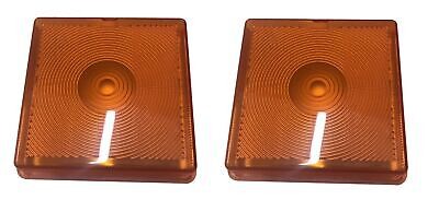 2 x Orange Indicator Lens Light Lamp For Ifor Williams Horse Trailer Replacement