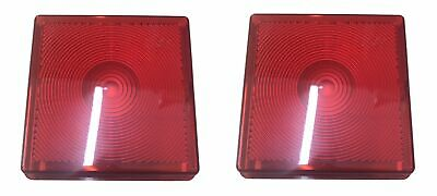 2 x Red Stop Tail Brake Lens Light Lamp Ifor Williams Horse Trailer Replacement