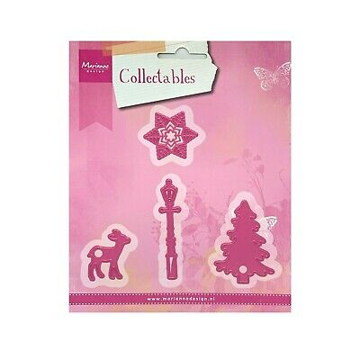 Christmas Metal Die Cut Lamp Post,Tree,Deer,Snowflake,Eline's Marianne Dies