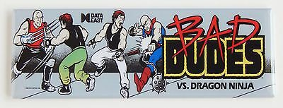 Bad Dudes Marquee FRIDGE MAGNET (1.5 x 4.5 inches) arcade video game header
