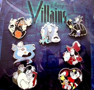 Disney Parks Villains Pin Trading Very rare 7 set New in Package