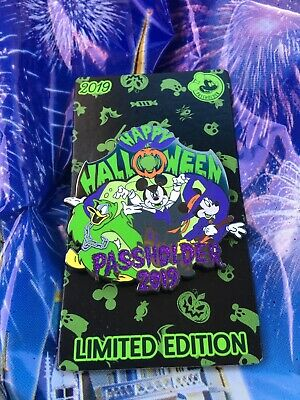 Happy Halloween 2019 Annual Passholder Limited Edition Disney Pin Now Available
