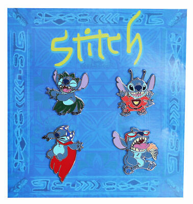 Disney Parks Stitch Booster Set 4 Pins Tranding New in Package