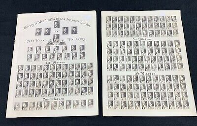 """1947 US Army Battery """"A"""" 54th Field Artillery 3rd Armored Division Unit Photos"""