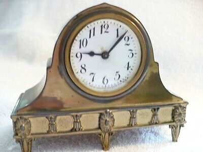 83A- Antique Small Mantle Clock The New Haven Clock Co.usa 757    #5507