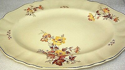 J & G Meakin  Jacobean ware antique platter serving plate oval serving platter