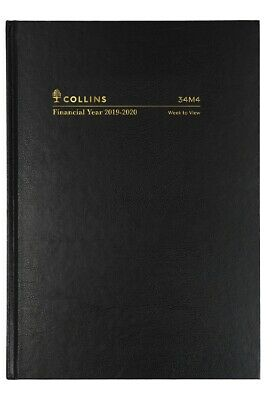 Collins 2019-2020 Financial Year Diary - A4 Week to View - Black