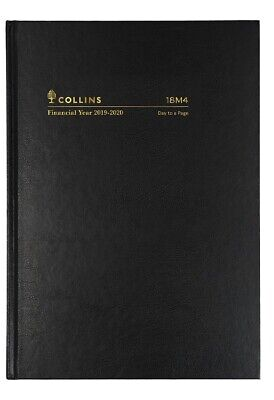 Collins 2019-2020 Financial Year Diary - A5 Day to a Page - Black