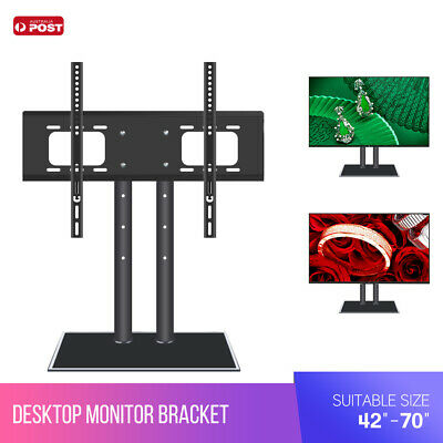 AU TV Stand Bracket Desk Top Monitor Table Mount Flat Plasma LCD LED 42-70""