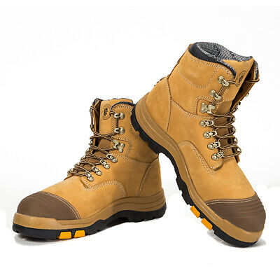 ROCKROOSTER Men's Work Boots Steel Toe Non-Slip Rubber Antistatic Safety Shoes