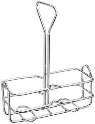 Winco WH-3 Square Oil and Vinegar Holder, 6 Ounce, Chrome Plated