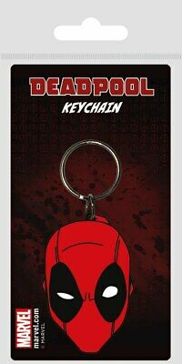 Portachiavi Keychain Marvel Deadpool Face Rubber