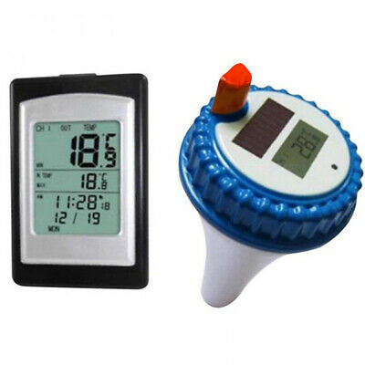 Profi Remote Floating Wireless LCD Pool Schwimmbad Teich Wasser Funk Thermometer