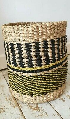 30% off was £26.99 now £18.99 Multi Coloured abaca Basket 100% abaca.