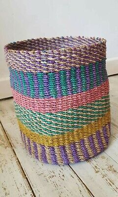 30% off was £26.99 now £18.99 Multi Coloured abaca Basket 100 % Abaca brand  new