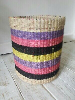 30% off was £26.99 now £18.99 Multi Coloured abaca Basket 100% Abaca Brand new