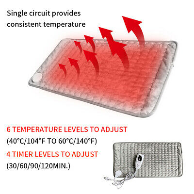 Electric Heating Pad Heat Therapy Fast Heated Neck Shoulder Pain Relief Auto Off