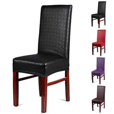 Leather Kitchen Bar Dining Hotel Restaurant Home Chair Cover Decor Living Room