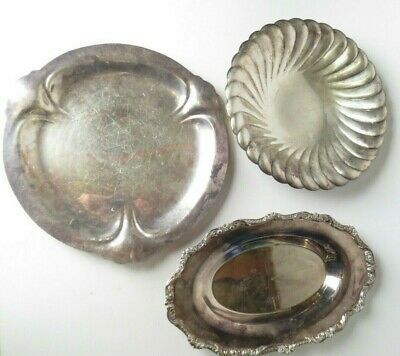 Antique Silver Plate Tray Lot Rogers Waverly Wilcox Rutledge International Co