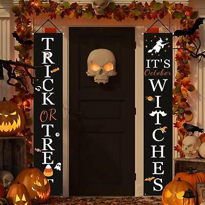 Halloween Decorations Outdoor |Trick or Treat & It's October Witches Signs