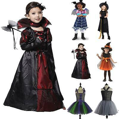 Kids Girls Vampirina Witch Dress Cosplay Costume Party  Halloween Fancy Dress
