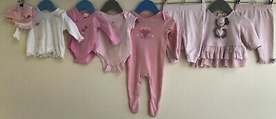 Baby Girls Bundle 0-3 Next Primark Mintini Baby Mothercare Bornino George <H8107