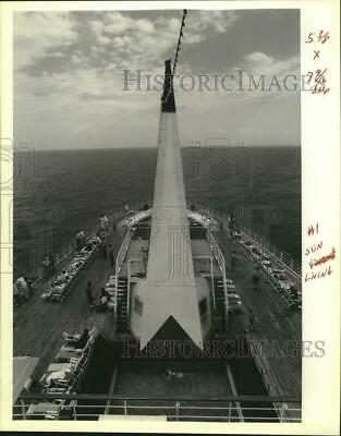 1989 Press Photo View from the stern of the Pride of the Mississippi - noc08649