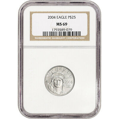 2004 American Platinum Eagle 1/4 oz $25 - NGC MS69