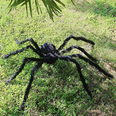 150CM Scary Plush Giant Spider Decoration Halloween Haunted House Garden Props