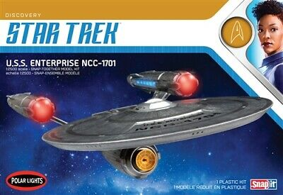 Polar Lights Star Trek Discovery USS Enterprise 1:2500 Snap Kit POL971