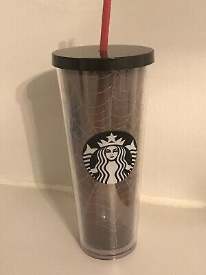 New Starbucks 2019 Glitter Spiderweb Limited Edition Tumbler Cup Halloween Fall