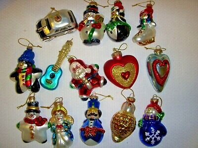 Lot of  14 Thomas Pacconi Sr. Museum Series Glass Ornament Collection