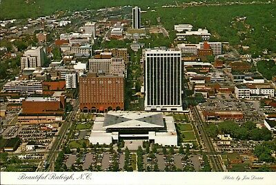 Beautiful Raleigh North Carolina, Downtown Aerial View Capital of NC - Postcard