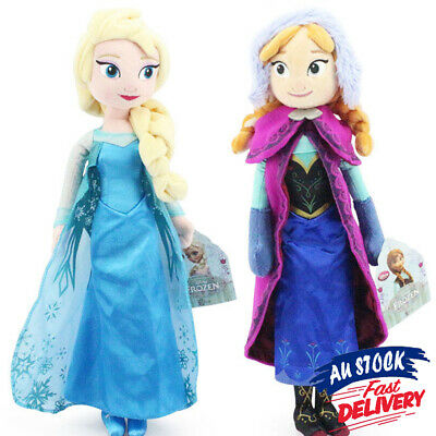 "50CM 20"" Xmas gift Girl 5%off soft PULL5 Elsa Anna Doll Plush Toy Disney Frozen"