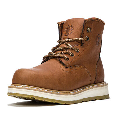 ROCKROOSTER Men's Work Boots soft Toe Safety Water Resistant Leather Shoes
