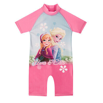 Disney Frozen Elsa Anna Official Gift Toddler Girls Kids Swim Surf Suit