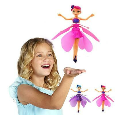 Flying Fairy Princess Dolls Magic Infrared Induction Control Toy Kids Xmas Gift