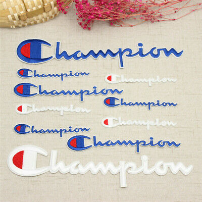 Champion Logo Embroidery Badge Patch Sew Bag Fabric Clothes Craft DIY Applique