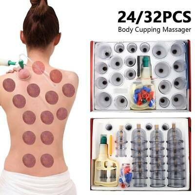 24/32X Set Vacuum Cupping Set  Pain Relief Acupuncture Massage Suction Massager