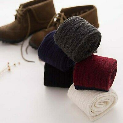 Women Winter Cashmere Wool Knee-High Solid Warm Thick Soft Comfort Boot Socks