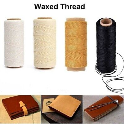 30m/roll Waxed Thread Cotton Cord String Strap for Leather Handicraft Tool Home