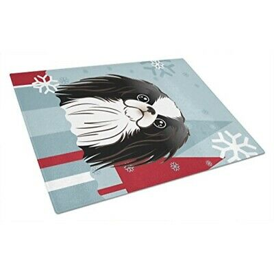 Multicolor Large Carolines Treasures SS8524LCB Lady with Her Japanese Chin Glass Cutting Board