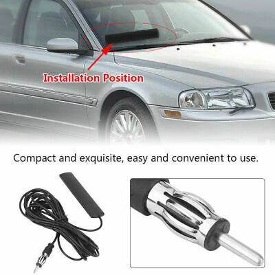 Radio Stereo Signal Windscreen Glass Mount Amplified Stick On Aerial For Honda