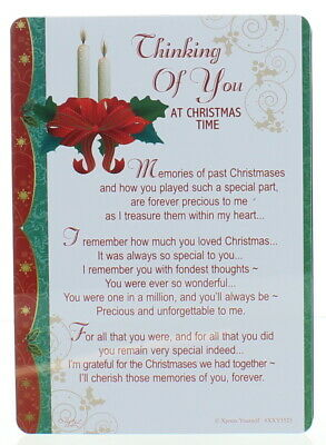 "Loving Memory Christmas Graveside Memorial Card - Thinking Of You 6"" x 4"""