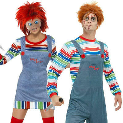 Chucky Adults Fancy Dress Killer Doll Halloween Horror Film Mens Ladies Costumes